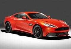 Aston Martin, спорткар, красный, автомобиль, Vanquish, обои hd, бес�…