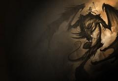 Злой дракон, фэнтези, рисованные, обои hd, бесплатно