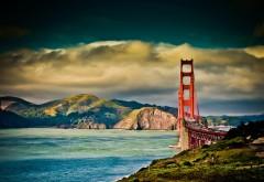 Золотые ворота, мост, море, небо, обои hd, бесплатно