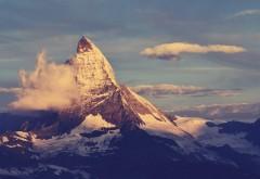 Снеговые тучи, таинственный пик, небо, обои hd, бесплатно