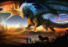 Широкоформатные обои 3D фэнтези дракона в HD качестве большого разрешения