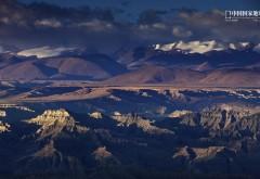 Горы, небо, облака, почва, Цзян Си, Китай, природа, обои hd…