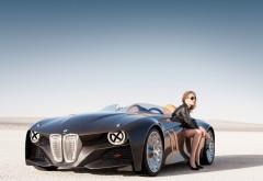 Концепт кар БМВ и красивая девушка в пустыне обои hd бес…
