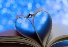 Кольцо, сердце, книга, листы, фон, романтика, обои hd, бес�…