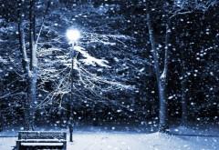 Тихая ночь с фонарными столбами картинки зимы на рабоч…