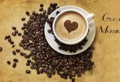 Доброе утро с чашечкой кофе и пенкой в виде сердца обои…