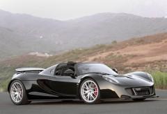 Hennessey Venom, GT Spyder, черный автомобиль, спорткар, обои HD, кар…