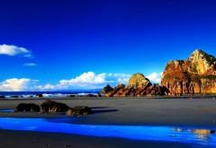 Скалы, пляж, HD обои, скачать, фоны, заставки, море