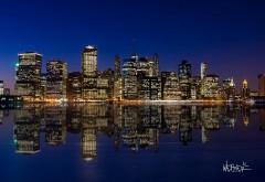Мегаполис, ночной город, небоскребы, огни, заставки, ши�…