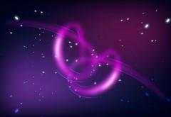 Сердца, пурпурные, звезды, фоны, свадебные открытки, широкоформатные, обои
