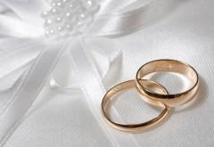 Золотые обручальные кольца, праздник, свадьба, фоны, об…
