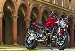 2015 Ducati Monster 821 красный мотоцикл обои для рабочего стола