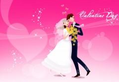 Свадебная пара на розовом фоне картинки высокого каче�…
