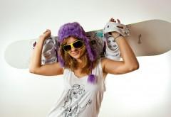 Скейтбордистка, девушка в очках, спортсменка, заставки…