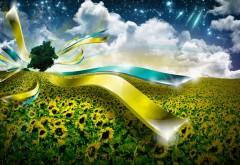 Пейзаж, поле, линия света, воображение, фоны, заставки