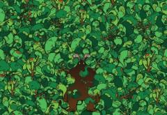 Деревья, воображение, зверь, фоны, заставки hd