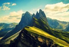Фоны, Горный пик, пейзажи, заставки, природа, небо