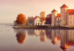 Германия, город на воде, замок, вода, красивые пейзажи, �…