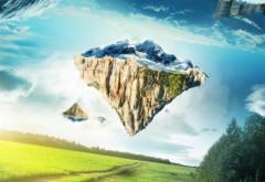 Летающая сказка, сказочная гора в небе фото высокого качества