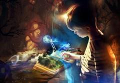 Книга воображений, фэнтези, ребенок, сказка, картинки, �…