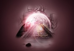 Пирамида света, фантазия, воображение, заставки, картинки