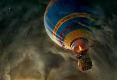 Картинка с воздушным шаром, который попал в бурю