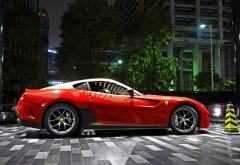 Фото автомобиля марки Ферари серо красного цвета