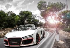 Шикарное фото великолепного белого Audi