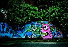 Рисунок высокого разрешения уличного графити