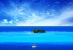 Стильная заставка синего океан в котором расположен м�…