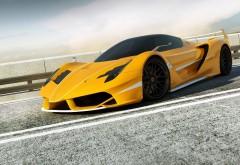 Обои высокого разрешения Ferrari на дороге