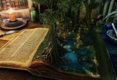Красивый рисунок фантастической книги