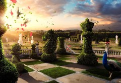 Фантастическая картинка шахматного сада