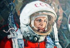 Юрий Гагарин, космонавт, СССР, скафандр, широкоформатн�…