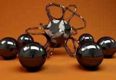 3d, геометрические фигуры, стекло, металл, шарики, формы,…
