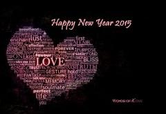 Новый год 2015, смс, сердце, абстрактные, праздник, любовь, обои, картинки