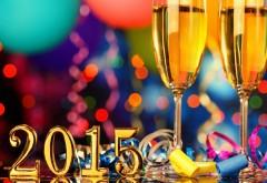 С Новым годом бокал шампанского 2015 широкоформатные об�…