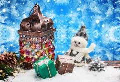 Фото, Праздники, Рождество, Снеговики, Подарки, Соснова…