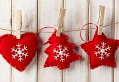 Праздники, Новогодние игрушки, Сердце, Снежинки, карти�…