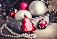 Праздники, Рождественские украшения, шарики, обои hd, ка…
