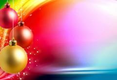 Открытка, фон, Рождество, Новый год, шарики, праздник, в�…