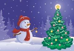 Фото, Праздники, Рождество, Вектор, Снеговик, Рождественская елка, Новый год, картинки