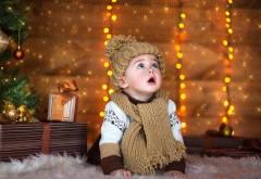 Милый ребенок, Новый год, праздник, Рождество, малыш, фо…