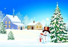 Семья снеговиков, картинки, праздник, Новый год, Рождес…
