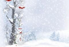Снеговик, Рождество, Новый год, фоны для рабочего стола