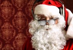 Снег, Санта Клаус, Новый год, Рождество, Большие наушники, обои HD