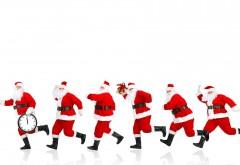 Новый год, Рождество, Санта мчится, Время, часы, Санты, ф…