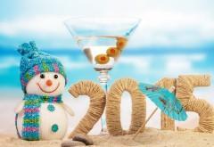 Новый год 2015, снеговик, солнце, песок, пляж, обои для раб…