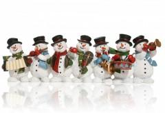 Новый год, рождество, снеговики, музыка, фестиваль, обои