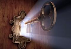 3D-графика, Ключ от двери, лучи, замок, скважина, обои, картинки